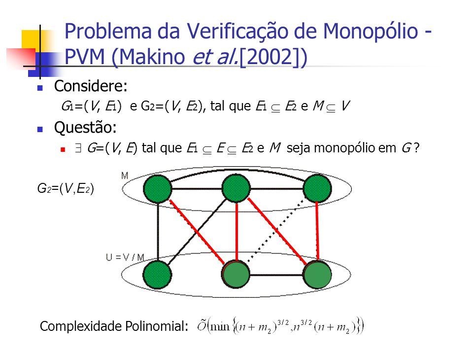 Problema da Verificação de Monopólio - PVM (Makino et al.[2002])
